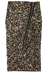Givenchy Printed Jersey Skirt With Crystal Embellishments