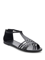 Cole Haan Cady Leather T Strap Sandals Black