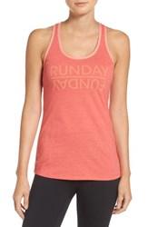 The North Face Women's 'Play Hard' Graphic Tank Cayenne Red Heather
