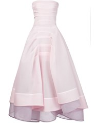 Maticevski Strapless Layered Gown Pink And Purple
