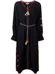 Ulla Johnson Long Sleeve Embroidered Dress Black