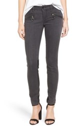 Blanknyc Denim Faux Leather Contrast Jeans Black