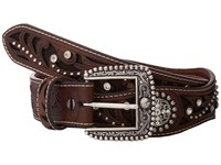 Ariat Scalloped Inlay Rhinestone Belt Brown Women's Belts