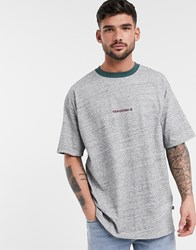 Converse Oversized Fit Logo Ringer T Shirt In Gray