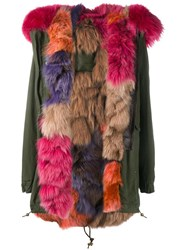Mr And Mrs Italy Fur Lined Parka Coat Green