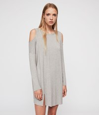Allsaints Esther Dress Smoke Grey Marl