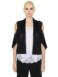 Givenchy Cutout Stretch Cady And Satin Jacket