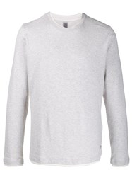 Eleventy Long Sleeve Fitted Top Grey