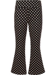 Nicole Miller Metallic Polka Dots Trousers Black