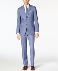 Dkny Light Blue Solid Extra Slim Fit Suit