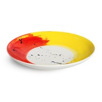 Bliss Home Fabbro Swish Large Serving Bowl Red And Yellow
