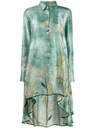 F.R.S For Restless Sleepers Asymmetric Printed Dress Blue