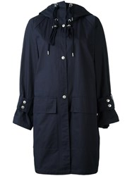 See By Chloe Drawstring Hood Coat Blue