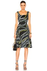 Erdem Tate Suzu Swirl Neoprene Jersey Dress In Black Floral Black Floral
