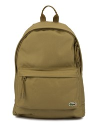 Lacoste Khaki Crocodile Logo Backpack