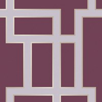 Tempaper Maze Removable Wallpaper Sample Swatch Plum Sample