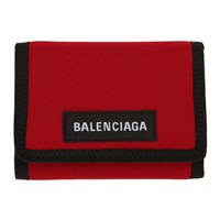 Balenciaga Red Explorer Wallet