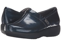 Softwalk Meredith Navy Patent Women's Slip On Shoes Blue