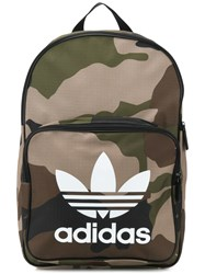 Adidas Trefoil Camouflage Backpack Green