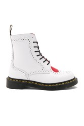 Dr. Martens Bentley Ii 8 Eye Boots White