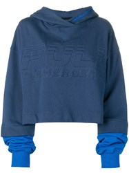 House Of Holland Oversized Logo Hoodie Blue