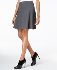 Kensie Ponte Skater Skirt Heather Dark Grey