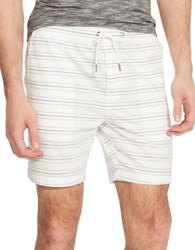 Kenneth Cole Straight Fit Cotton Shorts White Combo