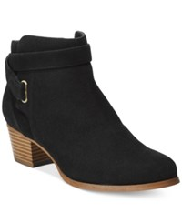 Giani Bernini Oleesia Booties Only At Macy's Women's Shoes Black Suede