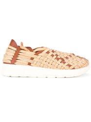 Missoni Interlaced Slip On Sneakers Men Leather Rubber 43 Nude Neutrals