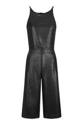 Wal G Metallic Culotte Jumpsuit By Black