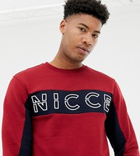 Nicce London Sweatshirt In Red With Chest Logo Exclusive To Asos