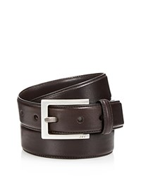 John Varvatos Star Usa Leather Dress Belt Chocolate