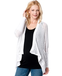 Jessica Simpson Maternity Draped Cardigan White