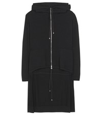 Barrie Cashmere Oversized Hoodie Black