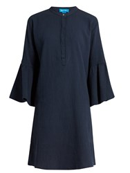 Mih Jeans Beck Flared Sleeve Cotton Dress Navy