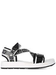 Kenzo 30Mm Papaya Nylon Sandals White