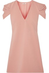 Miu Miu Cady Mini Dress Antique Rose