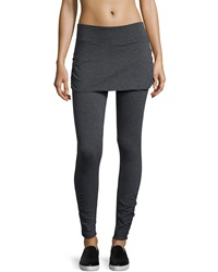 Marc Ny Performance Ruched Skirted Activewear Leggings Charcoal H