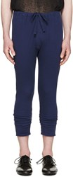 Haider Ackermann Navy Long John Lounge Pants
