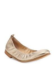 Botkier Mason Metallic Leather Flats Gold