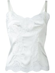 Dolce And Gabbana Lace Detail Cami Top White