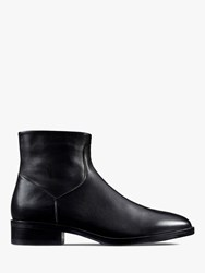 Clarks Pure Rosa Ankle Boots Black Leather