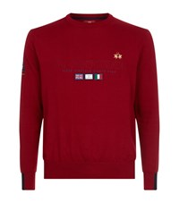 La Martina Crew Neck Cotton Jumper Male Red