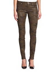 Hudson Coated Camouflage Super Skinny Jeans Incognito