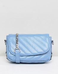 Pieces Quilted Cross Body Bag With Chain Kentucky Blue