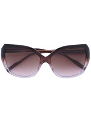 Courreges Square Sunglasses Women Acetate One Size Brown