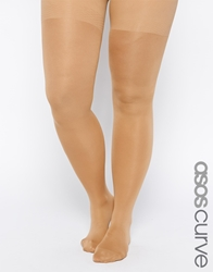 Asos Curve Skin Firming Support 50 Denier Tights Nude