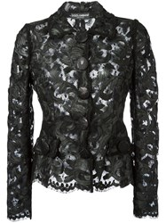 Dolce And Gabbana Lace Fitted Jacket Black