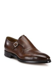 Bally Monk Strap Leather Dress Shoes