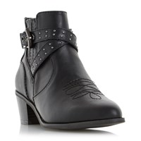 Head Over Heels Paxx Western Buckle Boots Black